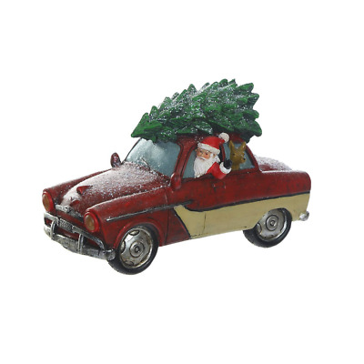 Vintage Red Truck LED Light Christmas Tree Holiday Santa Ornament Tabe Décor NEW