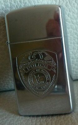 Briquet Zippo Police County De Suffolk New York