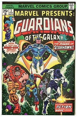Marvel Presents #3 VF/NM 9.0  1st solo Guardians of the Galaxy  1976  No Reserve