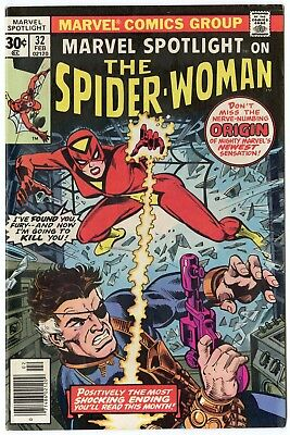Marvel Spotlight #32 VF/NM 9.0  Origin & 1st app. Spider-Woman  1977  No Reserve