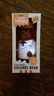 KFC Colonel Bear - Pull String + It Talks! - Only 750 made - Last minute gift!