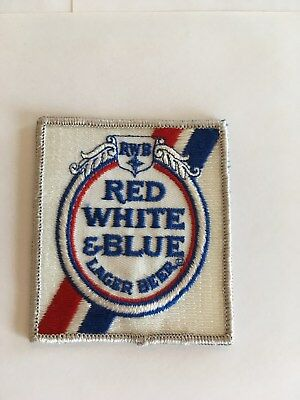 Vintage Beer Patch Red White & Blue