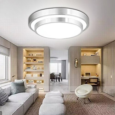 9-Inch LED 18W 1600LM Panel Flush Mount Ceiling Light Waterproof Bathroom Lamp