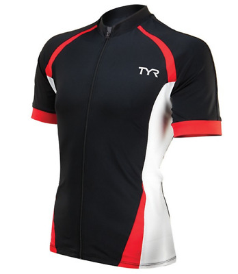 TYR Men s Small Black Red White Cycling Jersey Front Zip Short Sleeve  CARBON New 85bb09aa9