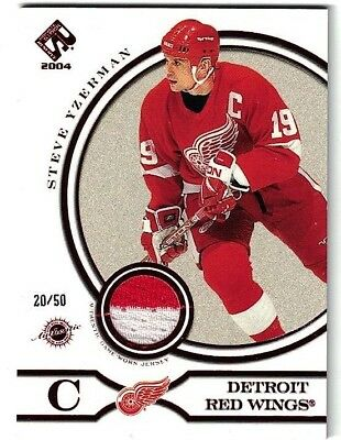 NHL Jersey Tradingcard – Steve Yzerman – Detroit Red Wings - /50