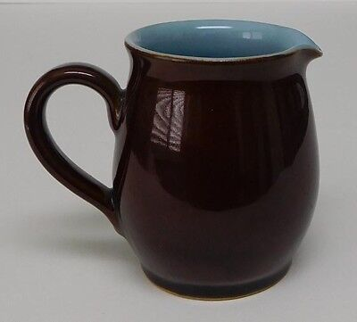 Vintage Denby Stoneware England - Homestead Brown Creamer - Discontinued Pattern