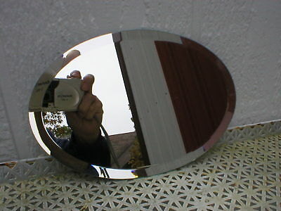 """Beveled Oval Mirror 6"""" x 9"""" Made In the USA Crafts Home Deco Wall Designing"""