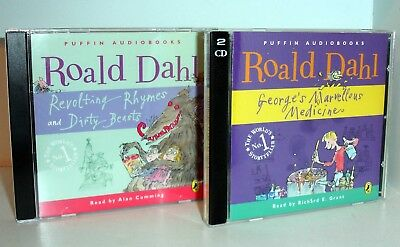 2 ROALD DAHL CD Audio Books - George's Mavellous Medicine & Revolting Rhymes