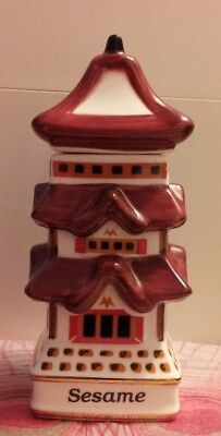 Danbury Mint Spices Of The World (Cup):  Japanese Pagoda Spice Jar - Sesame!!!