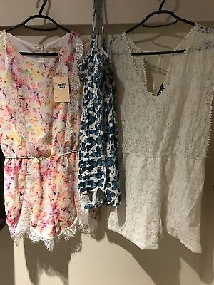 Ladies Playsuits Size 12 Golddigger & More Plus Free Top
