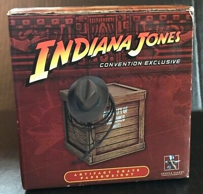 SDCC NYCC 2008 Gentle Giant Indiana Jones Convention Artifact Crate Paperweight