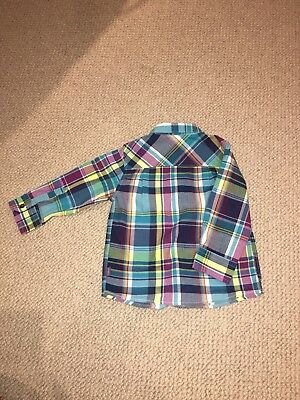 Ted Baker Long Sleeve Checked Shirt 18-24 Months