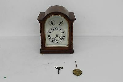 E.F.WRAY Vintage Antique Mahogany Table Top Bracket Clock Westminster Chime