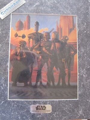 Star Wars-CHROMART-Bounty Hunters-Matted-1994-Includes COA