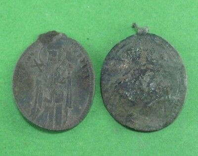 Pair Of Small Medieval Bronze Icons