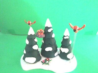 Rudolph The Red Nosed Reindeer Set Of Trees And Birds Complete Winter Woodlands
