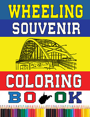 PAIR OF Wheeling Souvenir Coloring Books  (TWO of THEM one package)