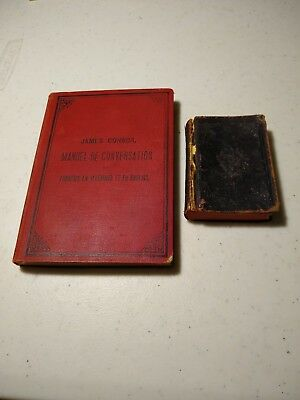 Antique German French English Hardcover Book Medical Lexicon Lot
