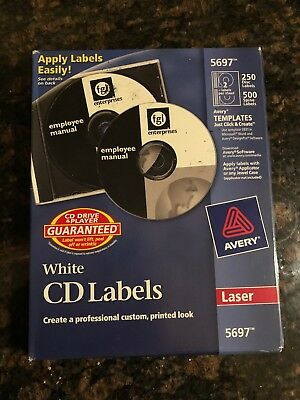 avery dvd labels matte white for ink jet printers 8962 6 sheets of