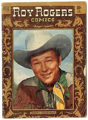 Roy Rogers Comics #37 G/VG 3.0 off-white pages  Photo Cover  Dell  1951  No Resv