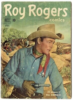 Roy Rogers Comics #40 VG 4.0 off-white pages  Photo Cover  Dell  1951  No Resv