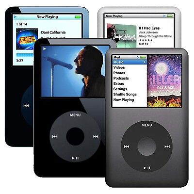 Apple iPod Classic 4th, 5th, 5.5th 6th, and 7th Generation 30GB -160GB