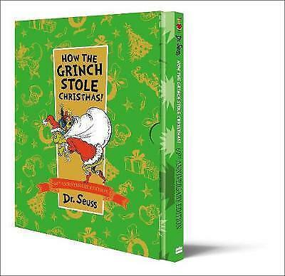 How The Grinch Stole Christmas Slipcase edition (Dr Seuss) by Seuss, Dr., NEW Bo