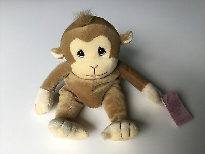 Vtg 90s Toy Precious Moments Tender Tails Monkey Plush Bean Bag Enesco w/ Tag