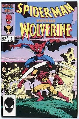 Spider-Man vs. Wolverine #1 NM 9.4 white pages  Giant Size  Marvel 1987  No Resv