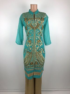 $29.99  Complete Party wear Dress  Indian Georgette Designer  kurta  size 42 XL