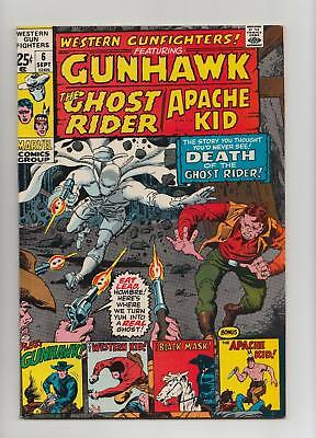 Western Gunfighters #6 Ghost Rider, Apache Kid (Marvel GIANT 1971) VF/NM 9.0