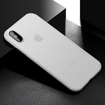 For iPhone Xs Max Ultra-thin Slim Luxury Matte Clear Hard Case Cover