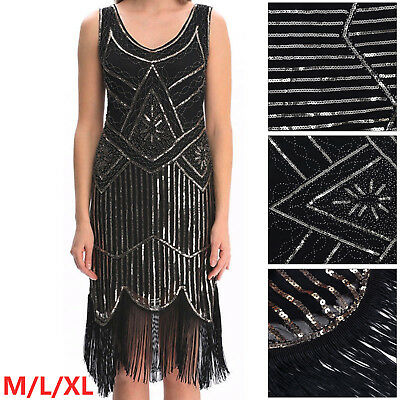 1920s gatsby vintage flapper lace sequin Tassel Sleeveless Party Maxi Hot Dress
