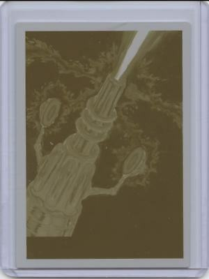 2017 Topps Mars Attacks The Revenge 1/1 Yellow Printing Plate Firing The Ray #39