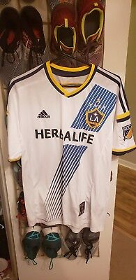 e5648d6ed37 Los Angeles Galaxy adidas Men s Home Soccer Jersey Gerrard 8 Size L