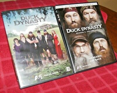 DUCK DYNASTY: SEASON 1 & 2 (THE BEARDS ARE BACK) - 5 DVDs, 2011/12, Over 586 hrs