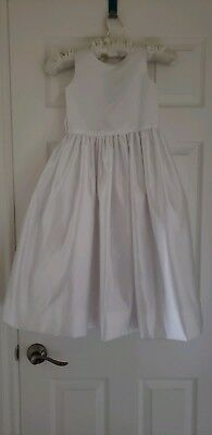 1a4338cc105 Us Angels Girls Size 8 White Satin Dress Flower Girl Special Occasion  Communion