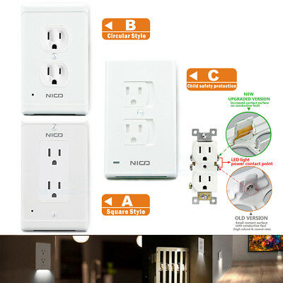 4 Pack Guidelight No Batteries Or Wires Outlet Wall Plate With Led