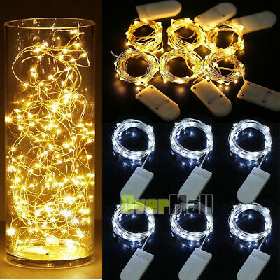 30 LED Wine Bottle Cork Shape Lights Night Fairy String Light Lamp Xmas Party US