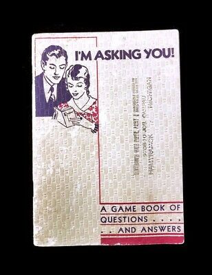 1935 I'm Asking You Game Hamtramck Wall Paper, Paint & Hardware Trivia O-Cedar