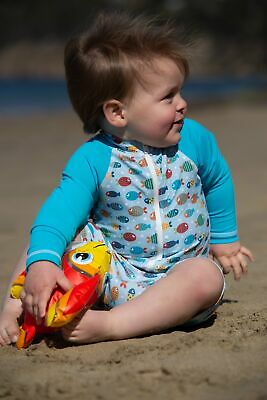 Long sleeve UPF50+ Sunsuit 'Fish Frenzy'
