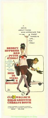 How To Steal A Million Affiche Film 33x76.2cm Australien Daybill Audrey Hepburn