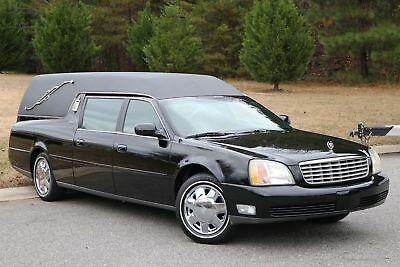 2001 Cadillac Deville HEARSE HEARSE 2001 CADILLAC MILLER METEOR HEARSE. BLK/BLK,36K,LIKE NEW IN AND OUT,NO RESERVE