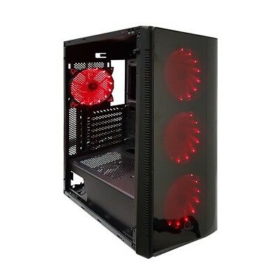Rotanium (Temper-TG101) Tempered Glass Full Tower Black Gaming Case without PSU