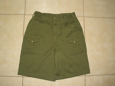 Vintage BSA Boy Scouts of America Green uniform Shorts USA MADE Waist 27 Size 14