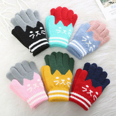 Kids Gloves Winter Warm Thick Soft Gloves Finger Full Warmer Children Mittens