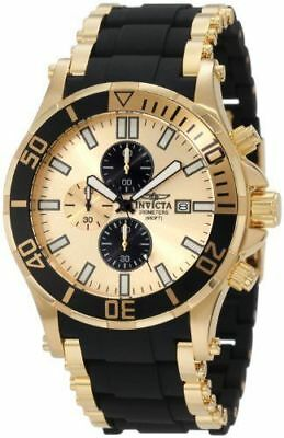 1478 Invicta 50mm Men's Sea Spider Chronograph 18K Gold Plated and Black Watch
