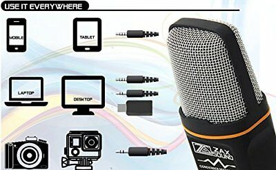 ZAXSOUND Professional Condenser Microphone for PC, Laptop, iPhone, iPad NEW