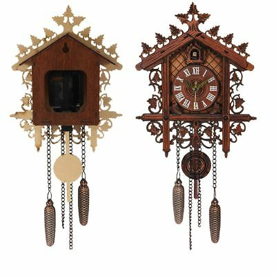 Vintage Cuckoo Clock Black Forest Quartz Swing Wood Wall Clock Handmade Clock