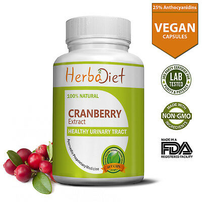 Cranberry Extract 25% Veg 500mg Capsules For Urinary Tract Health UTI Support